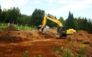 Excavating 1 of 4 new terraces